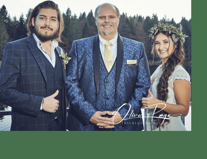 Trauredner nach der Hochzeit